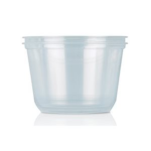 Deli Container 8 OZ Hoffman Clear Round (500 / cs)