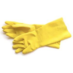 Gloves Dishwash Yellow Rubber (Pair)