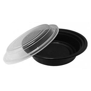 Deli Black Container Round 16 Oz (150 Combo / cs)